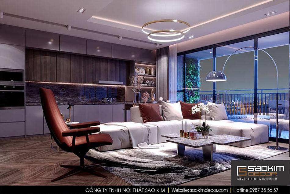 Thiết kế nội thất chung cư hiện đại cao cấp Mipec Riverside