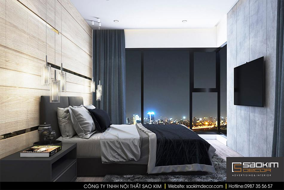 Thiết kế nội thất phòng ngủ chung cư - phòng ngủ master
