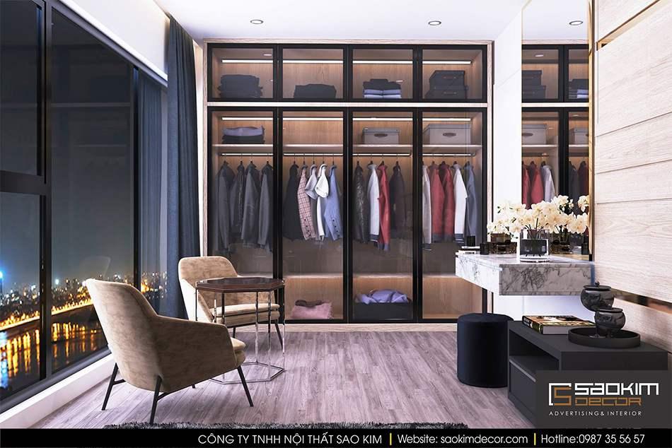Thiết kế nội thất phòng ngủ chung cư cao cấp - phòng ngủ master