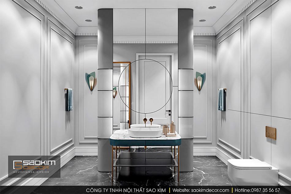 Thiết kế nội thất phòng tắm trong phòng ngủ master chung cư cao cấp CT1 Eco Green City