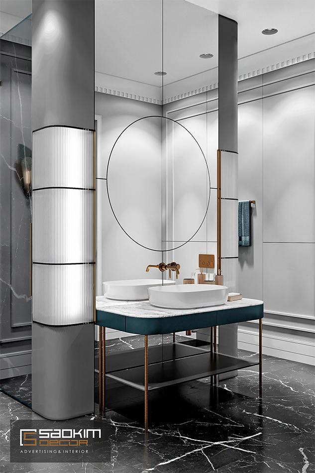 Thiết kế nội thất phòng tắm sang trọng, đẳng cấp