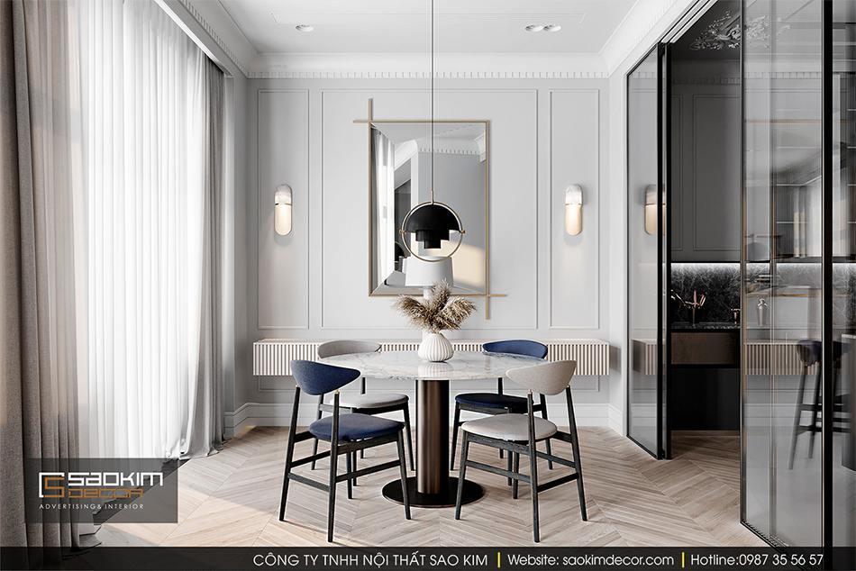 Thiết kế phòng ăn chung cư cao cấp CT1 Eco Green City