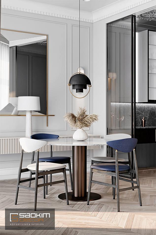 Thiết kế nội thất phòng ăn chung cư cao cấp CT1 Eco Green City