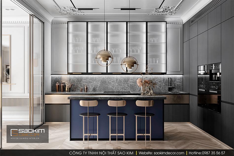 Thiết kế nội thất phòng bếp chung cư cao cấp CT1 Eco Green City