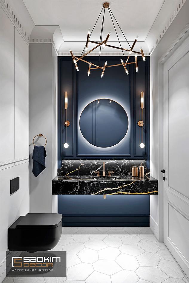 Thiết kế nội thất phòng tắm chung cư cao cấp CT1 Eco Green City