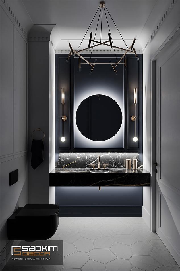 Thiết kế nội thất phòng tắm chung cư CT1 Eco Green City