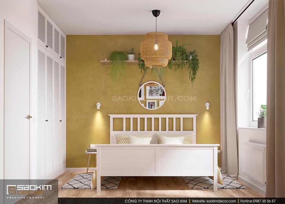 Thiết kế phòng ngủ chung cư 60m2 FLC Garden City