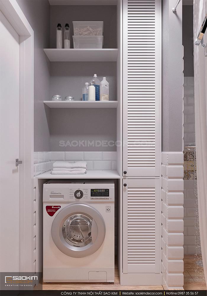 Thiết kế nội thất phòng tắm chung cư FLC Garden City Đại Mỗ