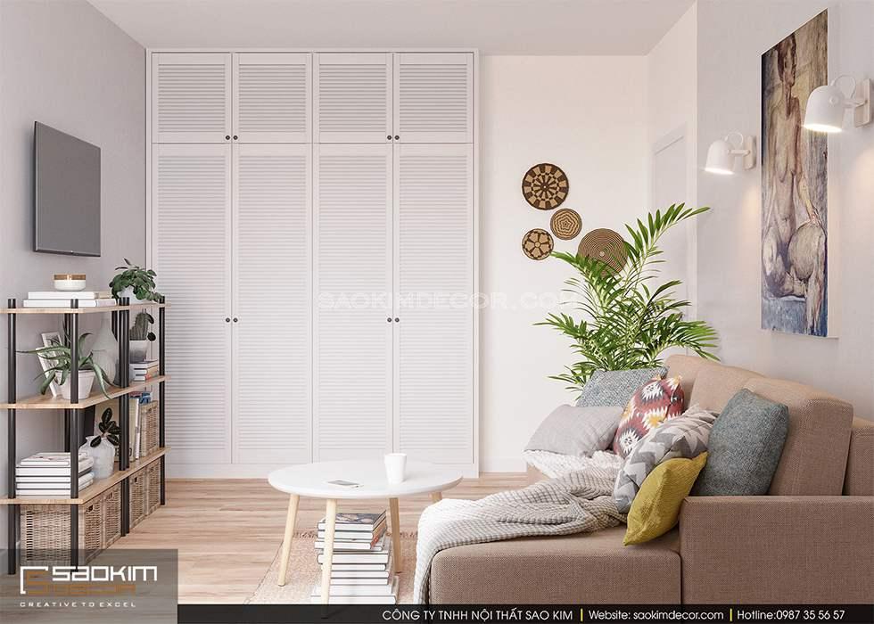Thiết kế phòng khách chung cư FLC Garden City