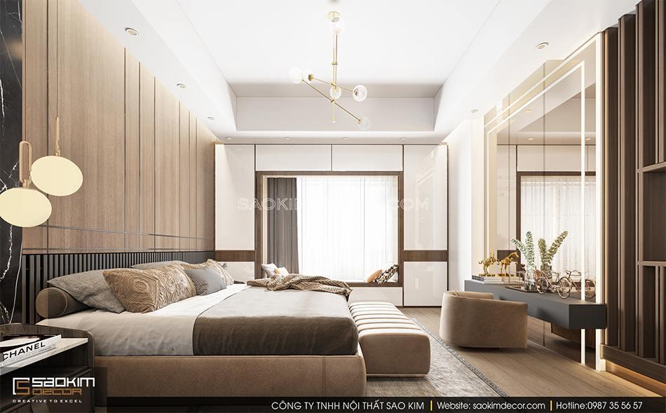 Không gian phòng ngủ nhà phố tiện nghi, thư giãn