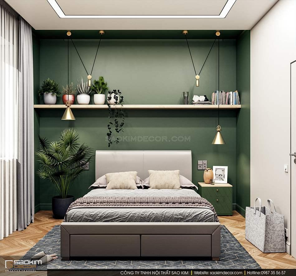 Thiết kế nội thất phòng khách tràn đầy sức sống và tài lộc