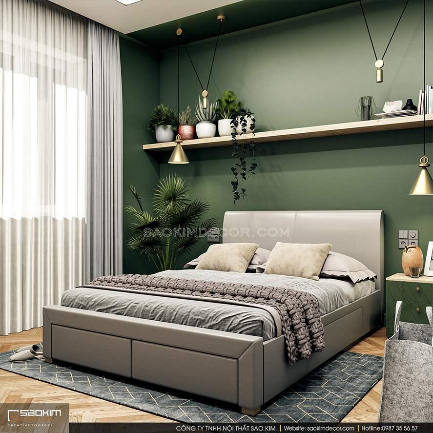 Mẫu thiết kế nội thất phòng ngủ nhà phố đẹp