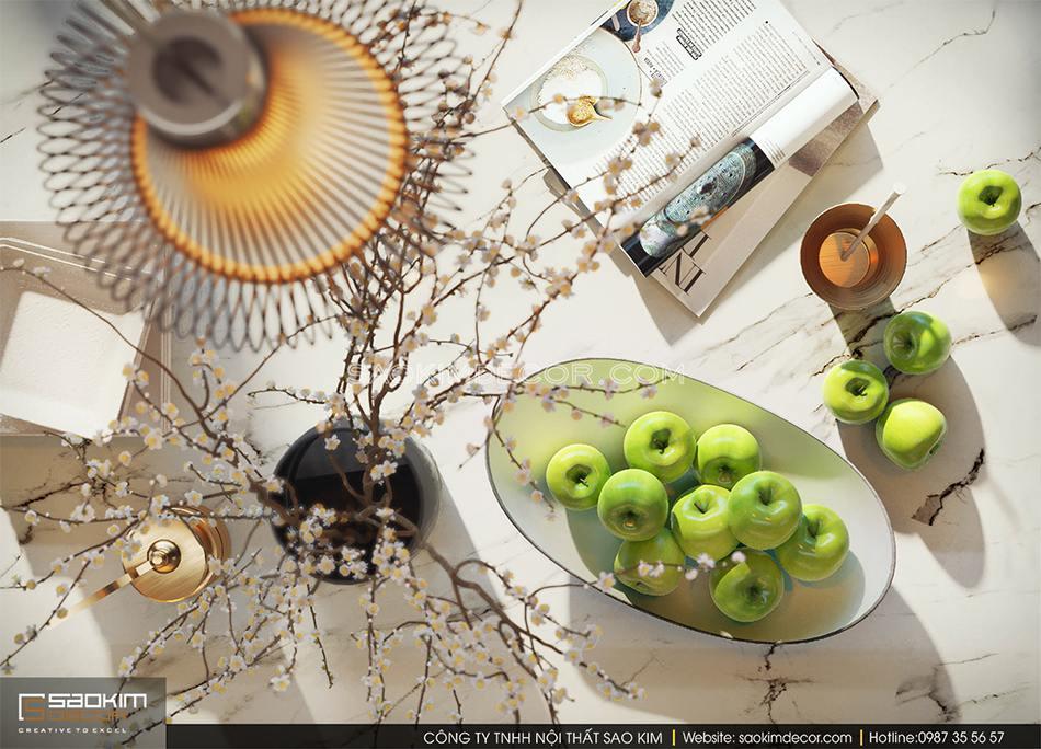 Những món đồ decor xinh xắn trên bàn đảo bếp