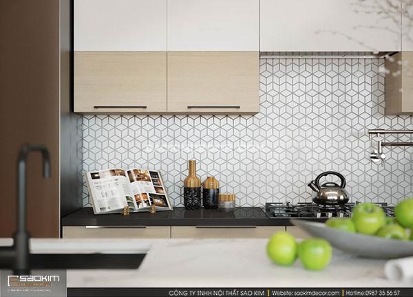 Thiết kế phòng bếp nhà phố theo phong cách hiện đại