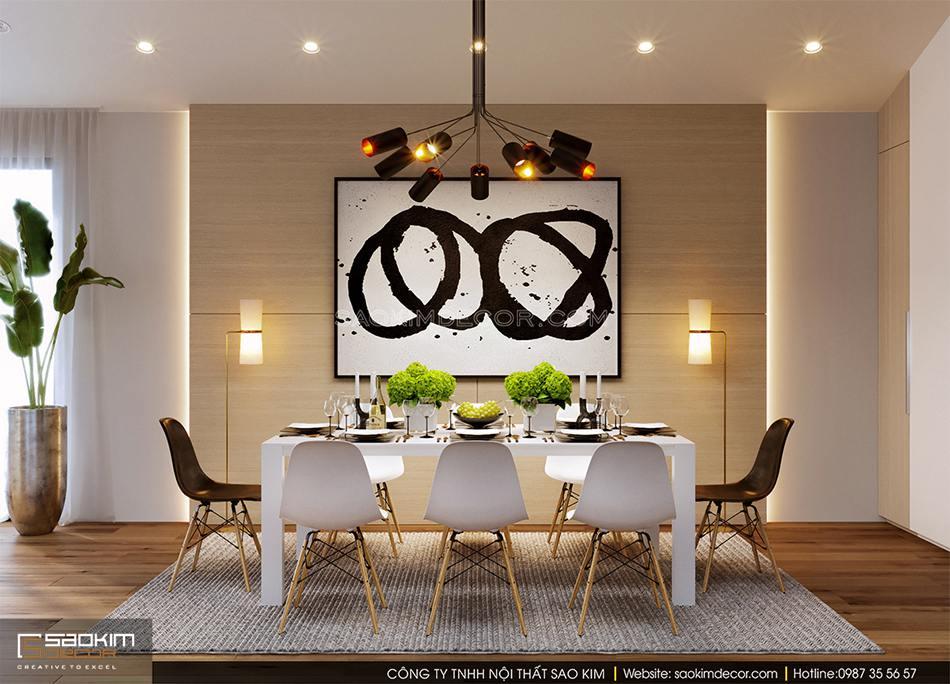 Thiết kế phòng ăn và bếp nhà phố theo phong cách hiện đại
