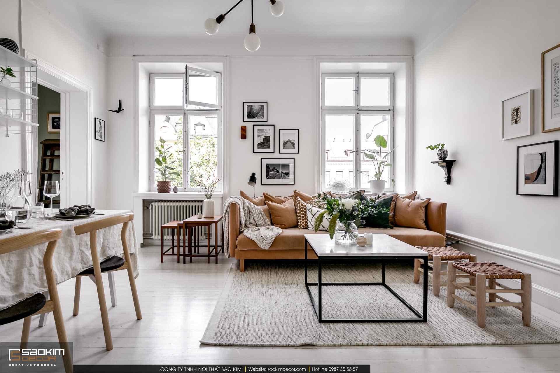 Thiết kế nội thất phong cách Scandinavian (Bắc Âu)