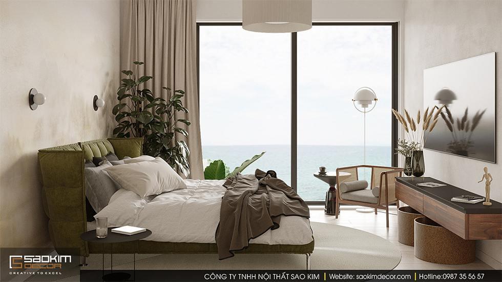 Thiết kế phòng ngủ biệt thự ven biển tại Đà Nẵng