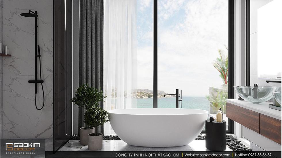 Thiết kế phòng tắm biệt thự ven biển tại Đà Nẵng