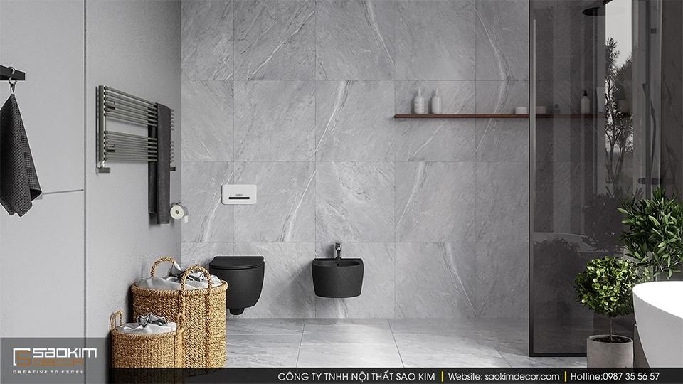 Thiết kế phòng tắm biệt thự sang trọng, hiện đại