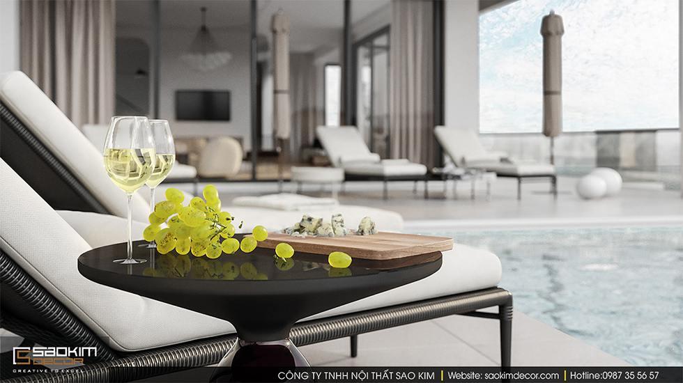 Thiết kế biệt thự biển tại Đà Nẵng có hồ bơi trong nhà