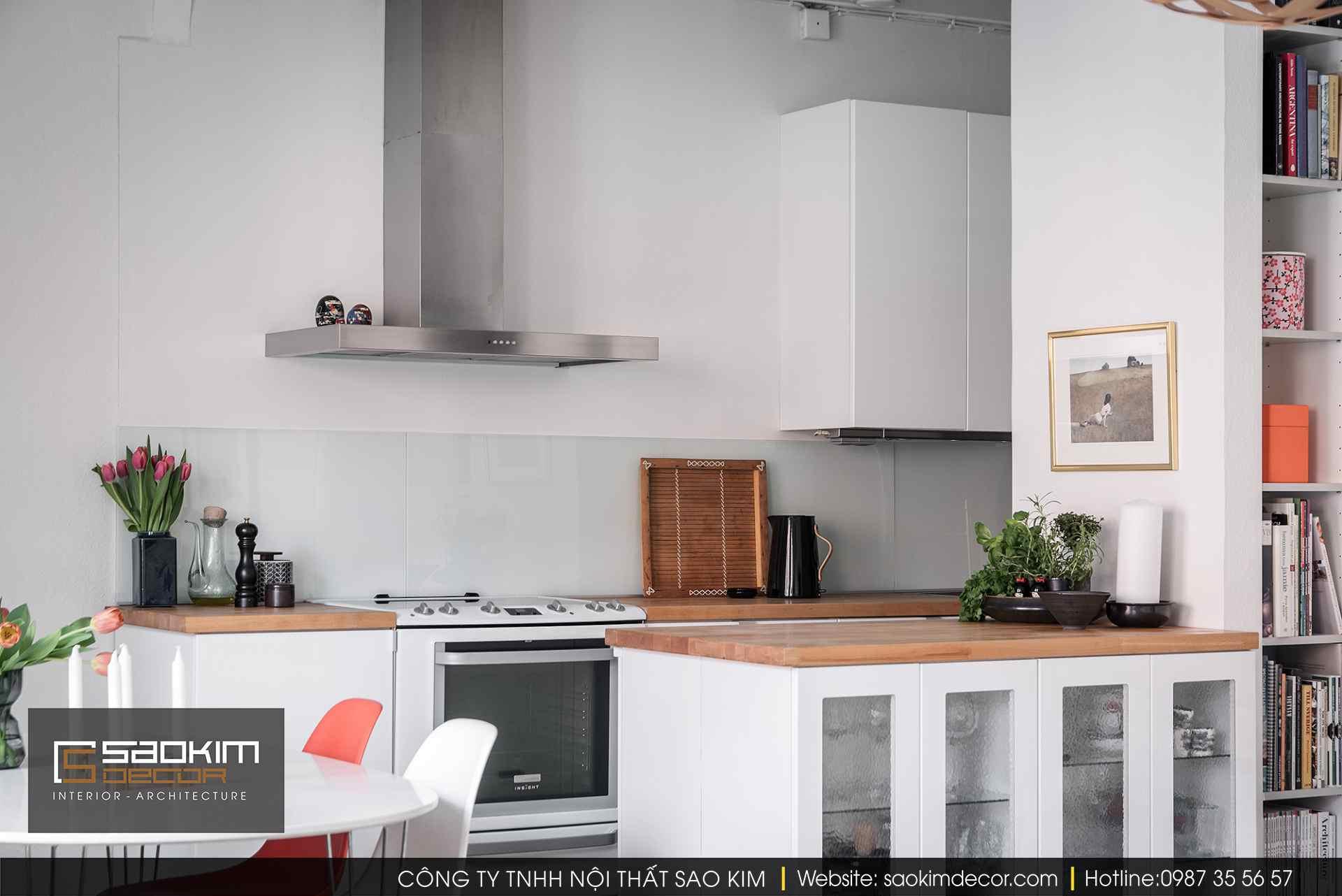 Thiết kế và thi công nội thất phòng bếp phong cách Scandinavian (Bắc Âu)