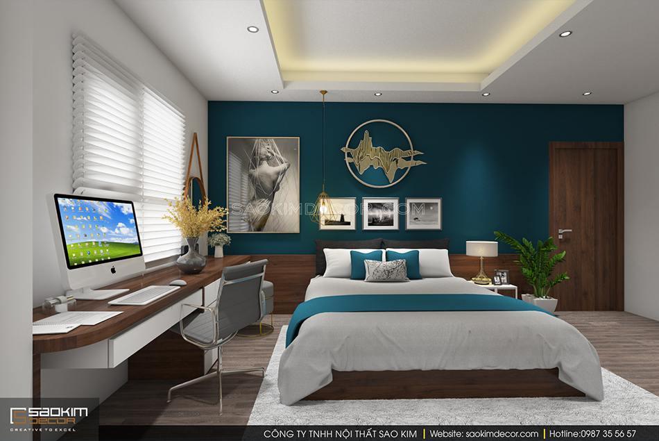 Thiết kế nội thất phòng ngủ master chung cư 150m2 CT1A Hàm Nghi