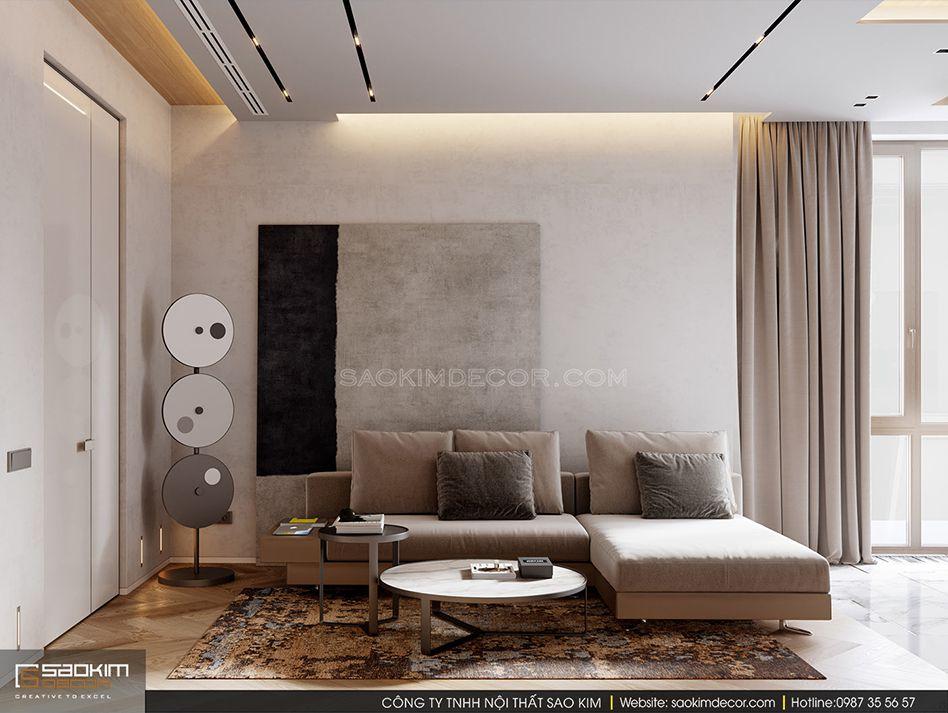 Mẫu thiết kế căn hộ chung cư đẹp phong cách tối giản
