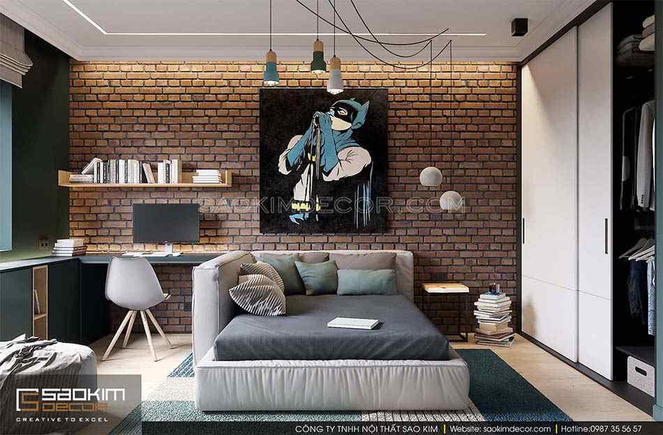 Thiết kế phòng ngủ bé trai chung cư bán cổ điển Park Hill - Time City