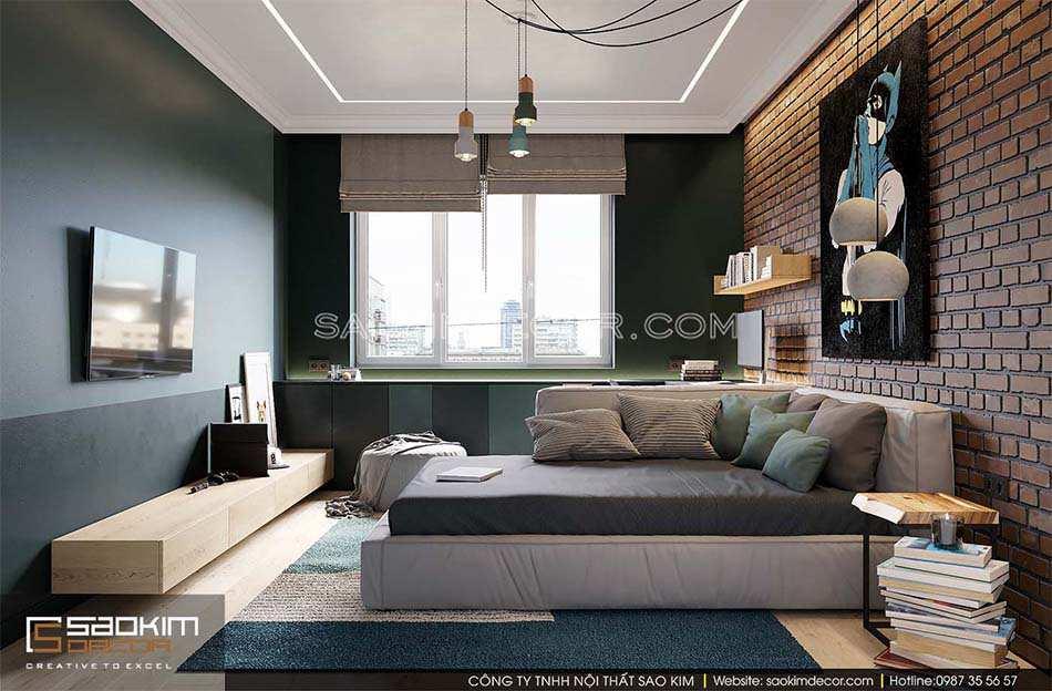 Thiết kế phòng ngủ bé trai chung cư Park Hill - Time City