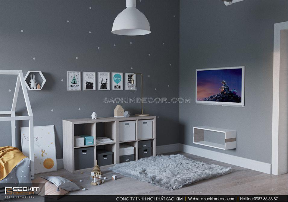 Thiết kế phòng ngủ trẻ em khu đô thị Trung Hòa - Nhân Chính
