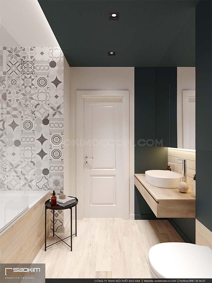 Thiết kế phòng tắm bé trai chung cư Park Hill - Time City