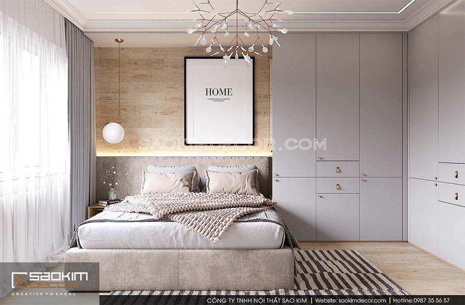 Thiết kế phòng ngủ master chung cư Park Hill Time City