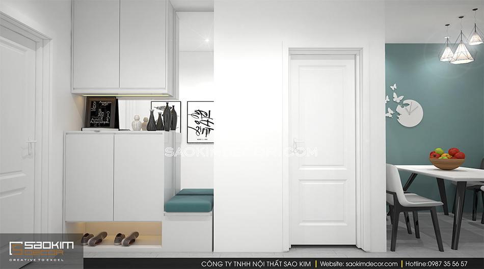 Thiết kế nội thất phong cách Scandinavian chung cư Roman Plaza