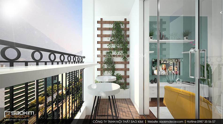 Thiết kế ban công chung cư Roman Plaza đơn giản nhưng khiến bạn mê mẩn ngay đấy