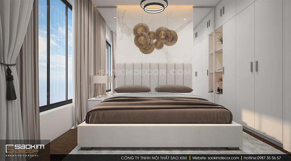 Thiết kế nội thất phòng ngủ master chung cư Roman Plaza