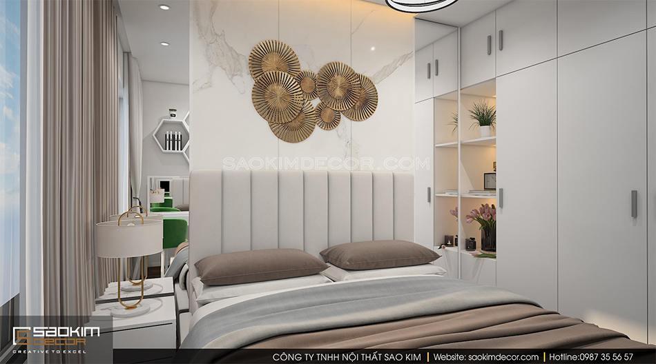 Thiết kế phòng ngủ master chung cư Roman Plaza