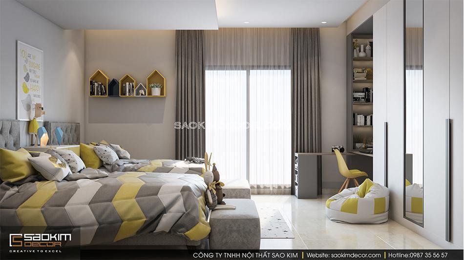 Thiết kế nội thất phòng ngủ cho bé chung cư 6TH Element