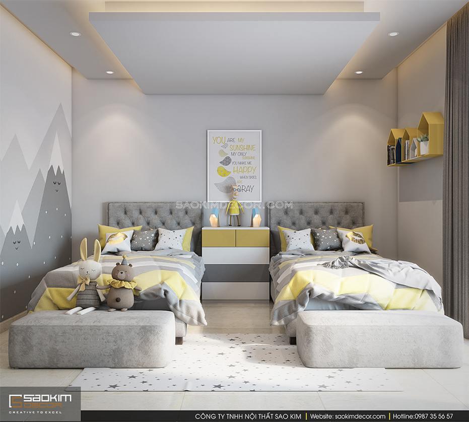 Thiết kế phòng ngủ cho bé chung cư 80m2 6TH Element