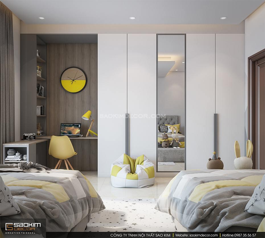 Thiết kế nội thất phòng ngủ trẻ em chung cư 6Th Element