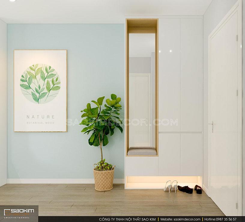 Thiết kế chung cư theo phong cách hiện đại tối giản Samsora Premier 105
