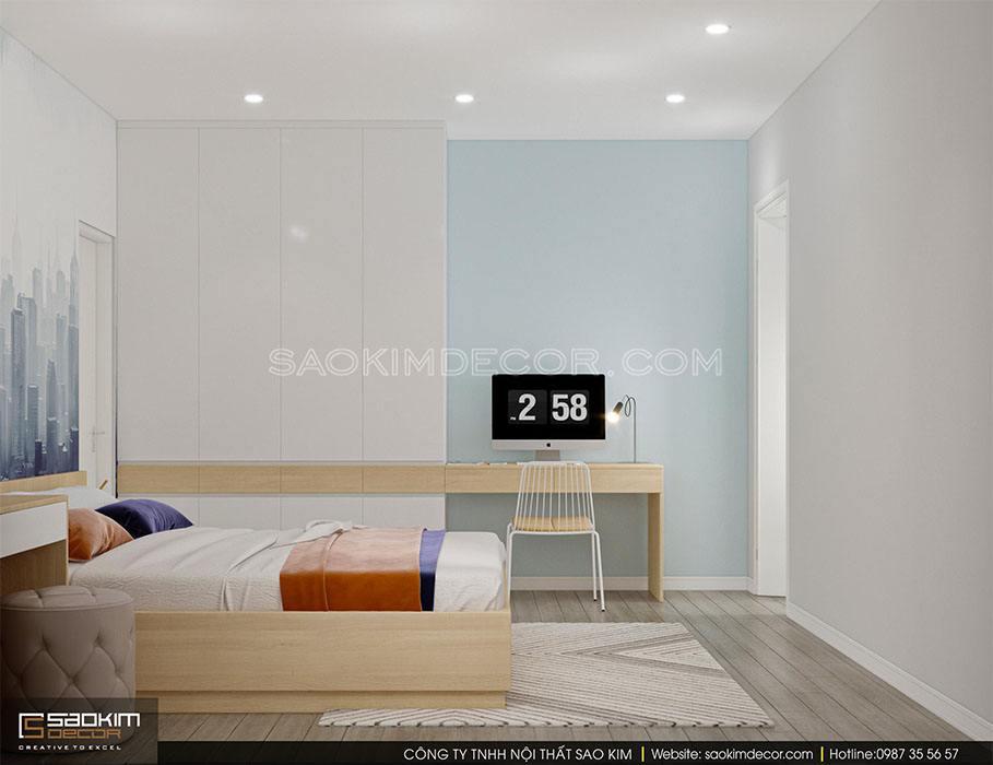 Thiết kế nội thất phòng ngủ master chung cư 91m2