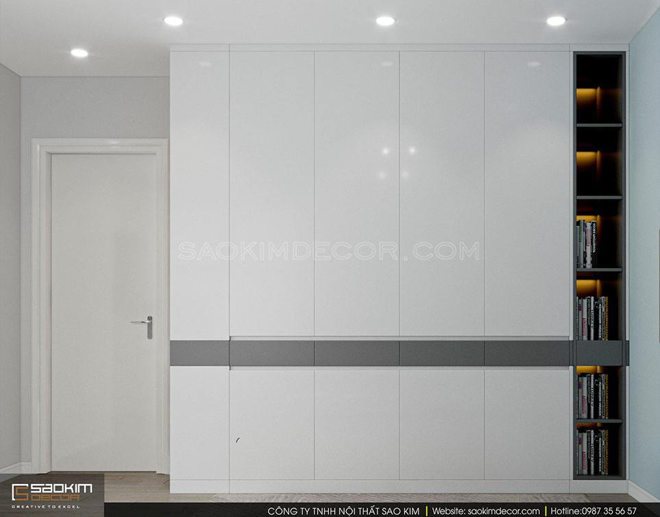 Thiết kế nội thất phòng ngủ bé trai đơn giản, đầy đủ tiện nghi