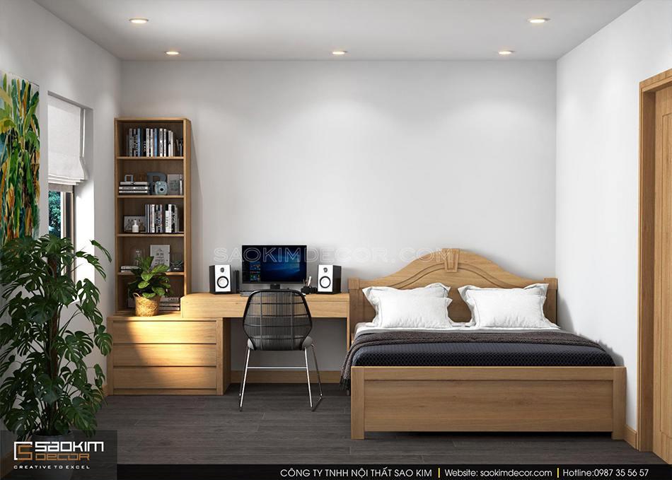 Thiết kế phòng ngủ bé trai chung cư 100m2 CT1-2 Mễ Trì