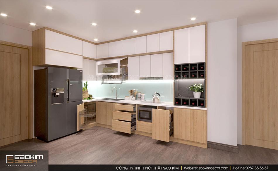 Thiết kế phòng bếp chung cư CT1-2 Mễ Trì