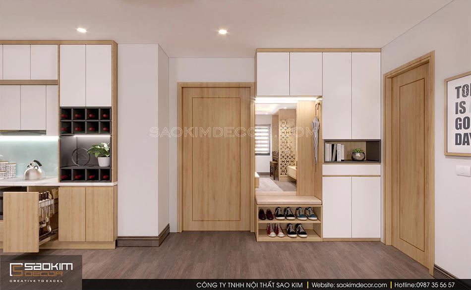 Thiết kế nội thất chung cư 100m2 CT1-2 Mễ Trì