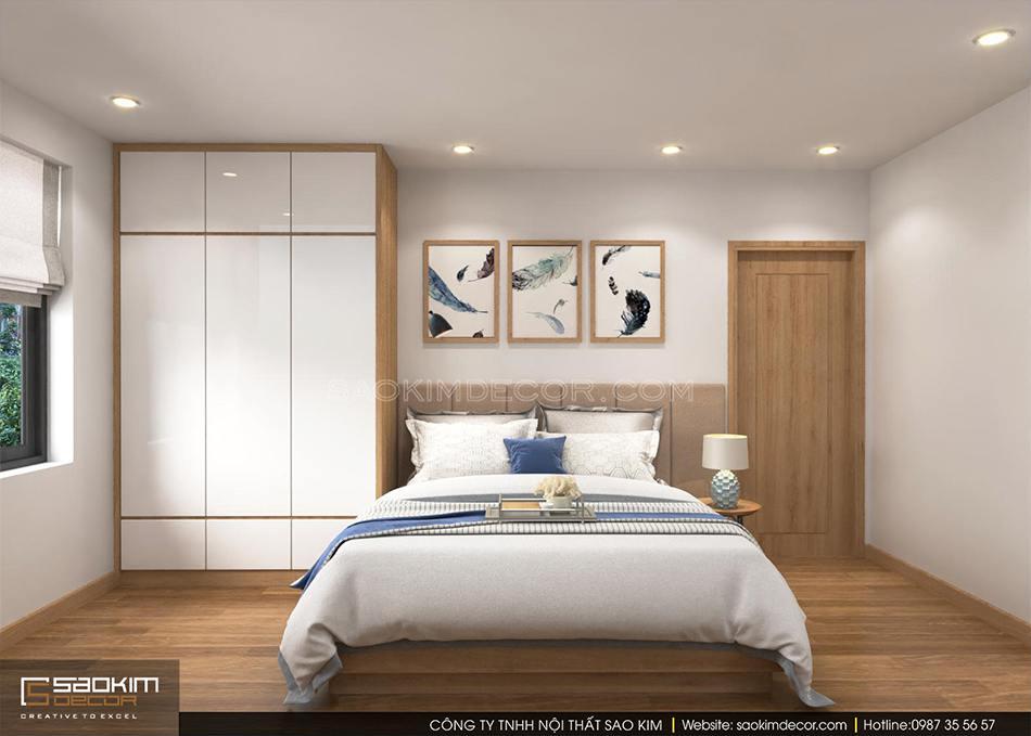Thiết kế phòng ngủ master chung cư CT1-2 Mễ Trì