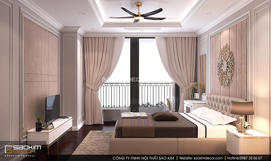 Thiết kế nội thất phòng ngủ master chung cư Royal City