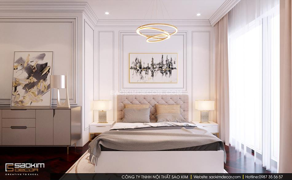 Thiết kế nội thất phòng ngủ chung cư Royal City