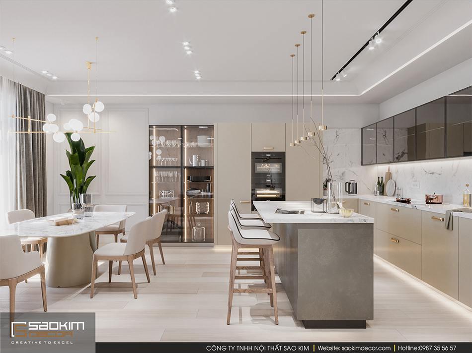 Thiết kế phòng bếp đẹp chung cư cao cấp Imperia Garden
