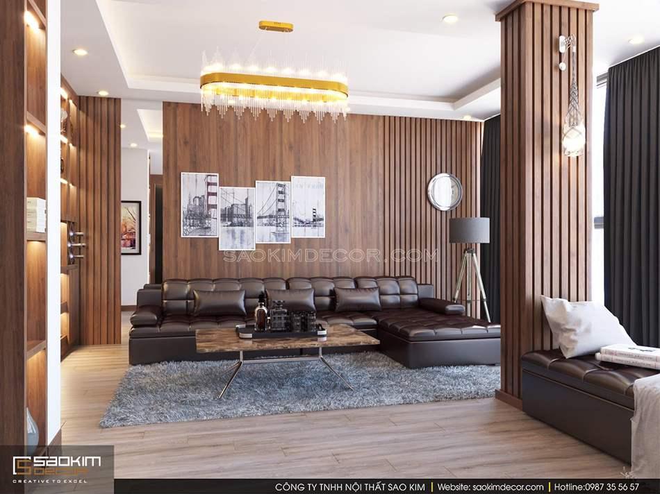 Thiết kế phòng khách nhà phố theo phong cách hiện đại